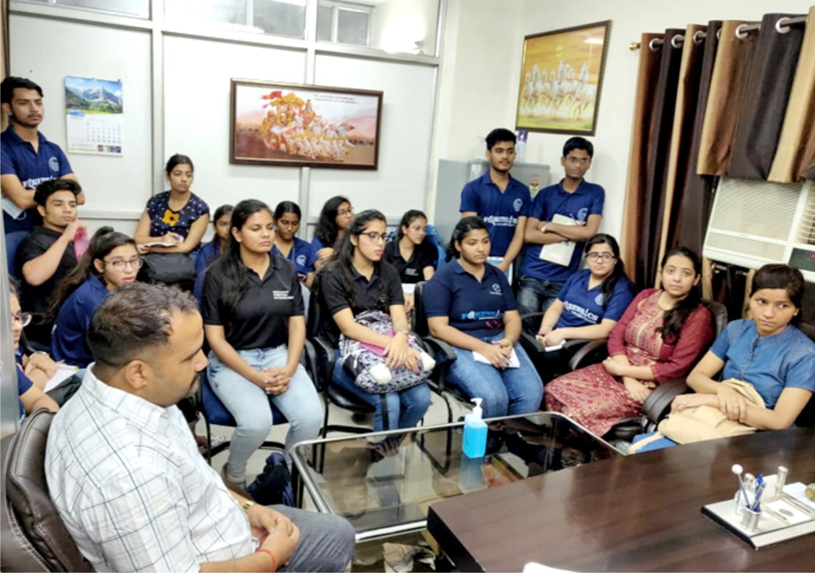 Educational Visit at Deen Dayal Upadhyay Hospital