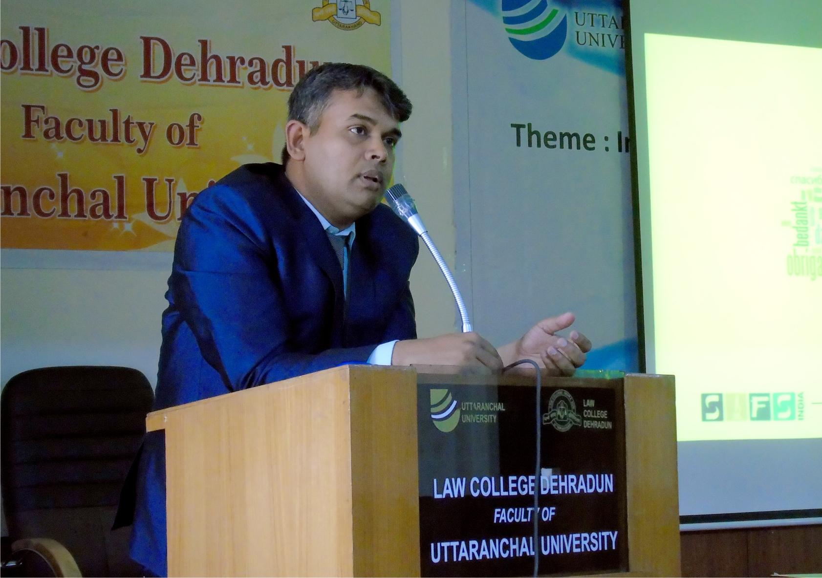Guest Lecture- Law College Dehradun.