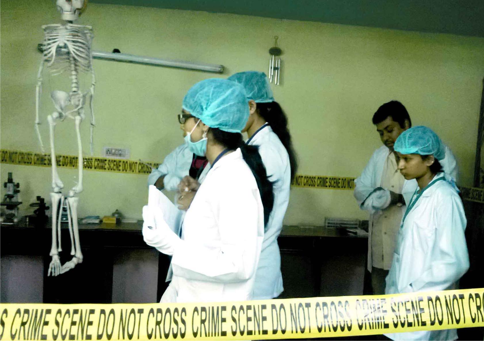 Indoor Crime Scene Investigation Mock